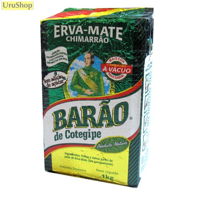 Barão de Cotegipe Lot of 3 Brazilian Chimarrao Tea Erva Yerba Mate Premium 1kg